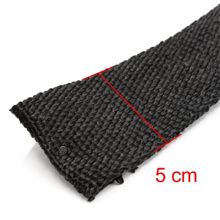 5cm x 10m Black Heat Exhaust Pipe Wrap Tape Thermo Bandage for Motocycle Car - image 1 of 3