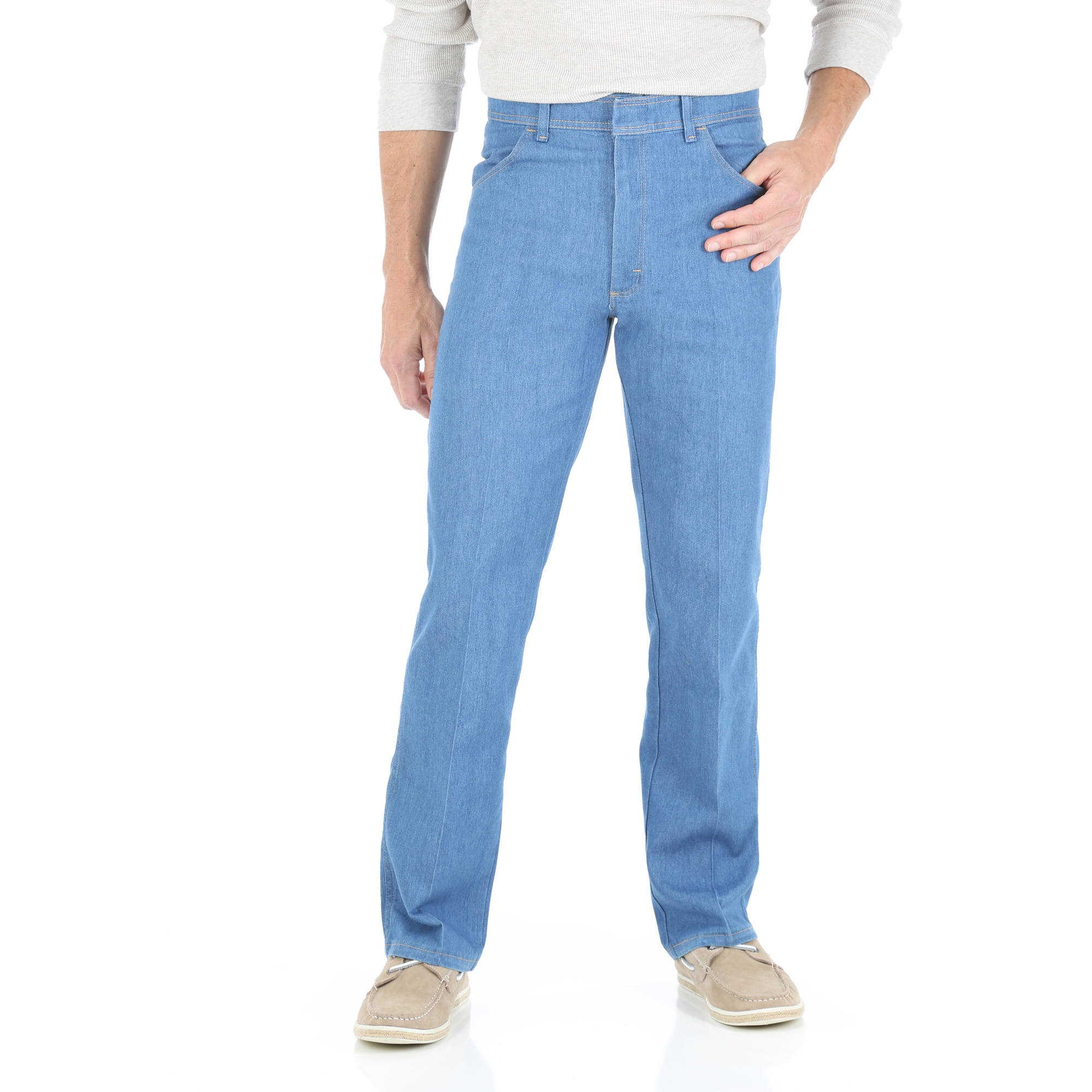 Wrangler - Big Men's Regular Fit Jeans with Comfort Flex Waistband ...