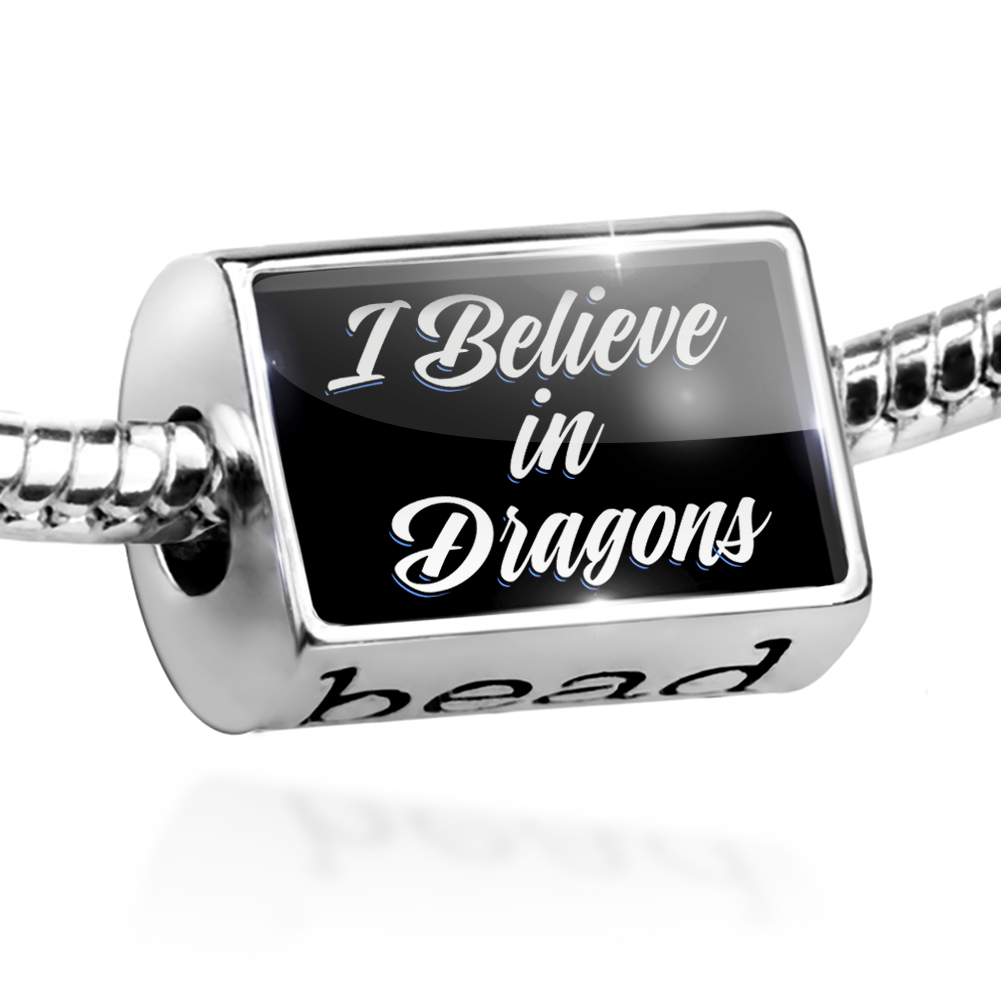 Bead Classic design I Believe in Dragons Charm Fits All European Bracelets
