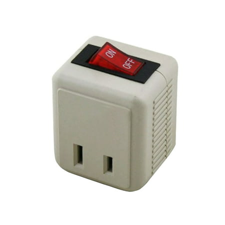 Uninex Wall Tap Outlet W/Turn ON/OFF Switch Power Adapter 2 prong Plug Without Unplugging Cords ETL