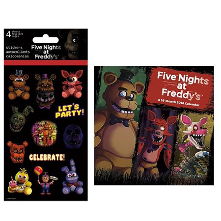 Five Nights at Freddy's 2018 Mini Calendar and Stickers Bundle - image 1 of 1
