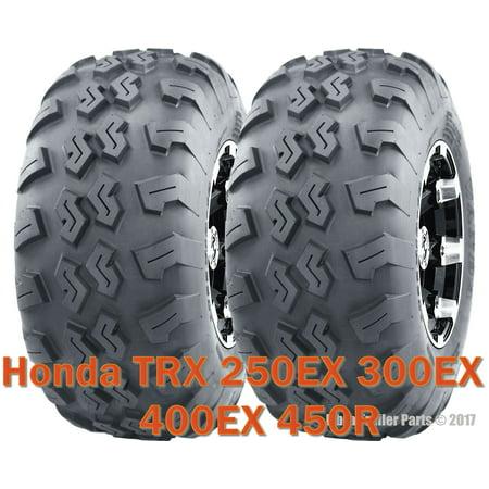 ((2) 22x7-10 22x7x10 ATV front tires set Honda TRX 250EX 300EX 400EX 450R)