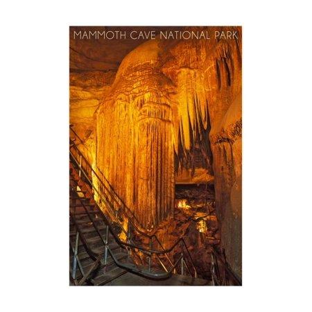 Mammoth Cave, Kentucky - Frozen Niagra Print Wall Art By Lantern