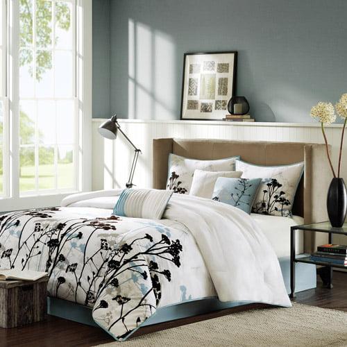 Home Essence Blake 7-Piece Bedding Comforter Set, Blue