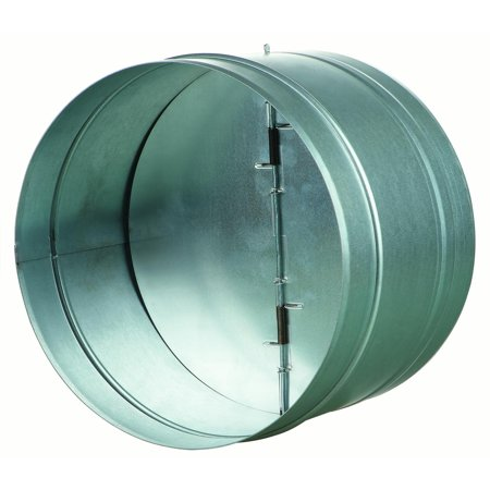 Backdraft Damper with Rubber Seal 10 in.