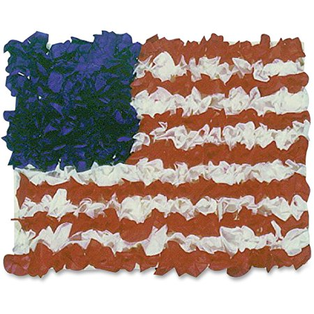 Hygloss American Flag Tissue Craft Kit, Assorted, 1 Pack (Quantity)