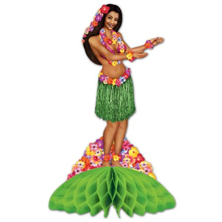 Club Pack of 12 Hawaiian Luau Hula Dancer Centerpieces 14