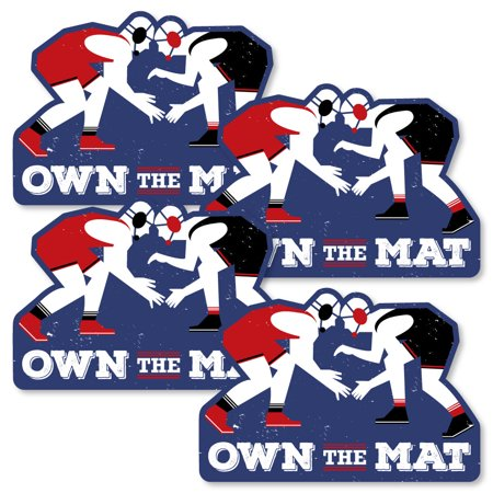 Own The Mat - Wrestling - Decorations DIY Birthday Party or Wrestler Party Essentials - Set of 20