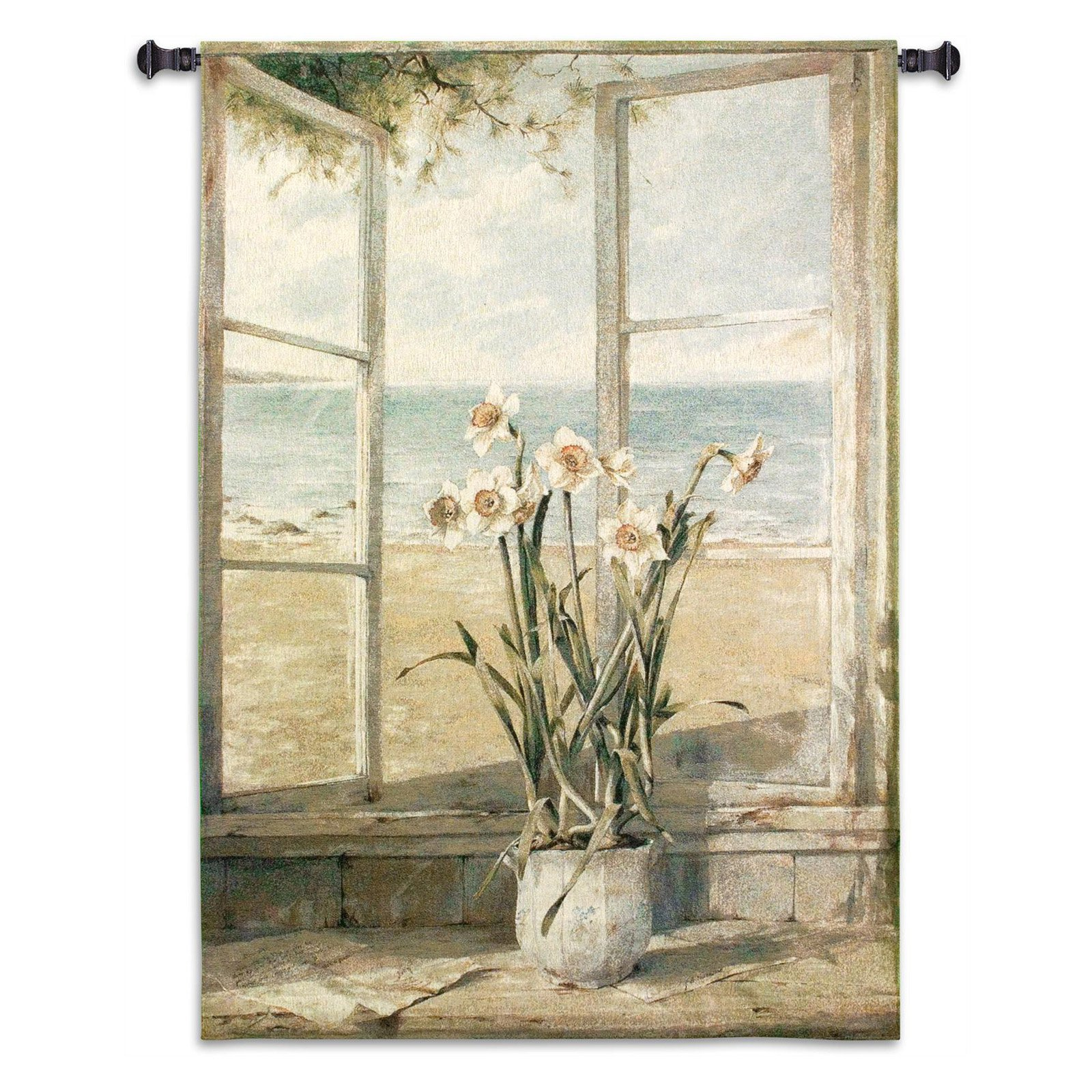 FineArtTapestries 2074-WH Ocean Narcissus Wall Tapestry by Supplier Generic
