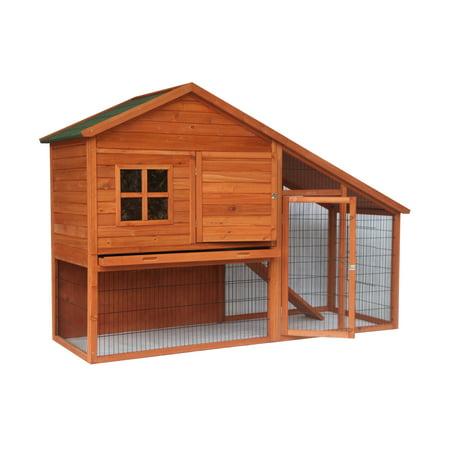 ALEKO ACCRH83X32X57 Multi Level Wooden Chicken Coop or Rabbit Hutch - 83 x32 x 57 Inches
