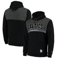 Boston Celtics FISLL Tonal Colorblock Chenille Patch Pullover Hoodie - Black