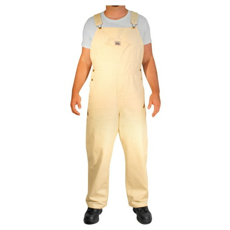 Rugged Blue Painter Bib Overalls - Natural - 36x32
