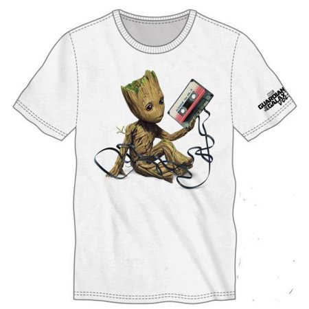 Marvel Guardians Of The Galaxy Baby Groot Mixtape Tee Shirt Apparel  Large