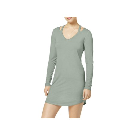 Ultra Flirt Womens Juniors Cut Out Cold Collar Mini Dress