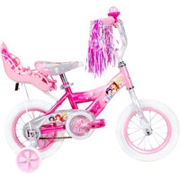 "Disney Princess 12"" Huffy Girls Bike with Doll Carrier"