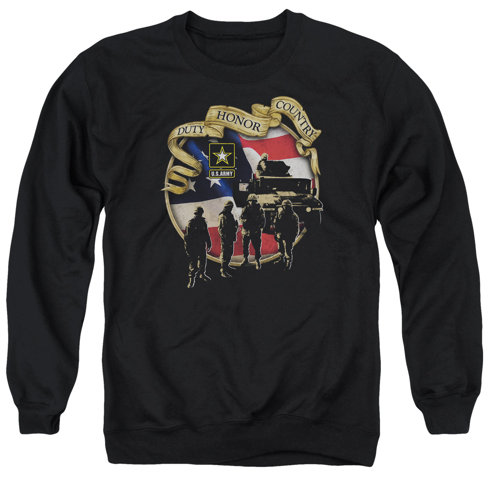 Army Duty Honor Country Soldiers & Tank Advance Adult Crewneck Sweatshirt
