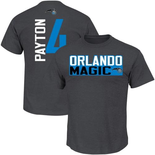 Elfrid Payton Orlando Magic Majestic Vertical Name & Number T-Shirt - Heather Gray