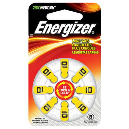 5 8-Packs Energizer Size 10 Hearing Aid Batteries With EZ Turn & Lock (40 Total)