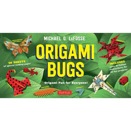 Origami Bugs Kit : Origami Fun for Everyone!: Kit with 2 Origami Books, 20 Fun Projects and 98 Origami Papers: Great for Both Kids and - Halloween Craft Projects For Adults