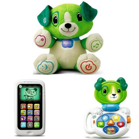 LeapFrog My Pal Scout, Chat & Count Smart Phone & My Talking LapPup (Green), Best Kid Learning Toys & Presents, Kid Toys