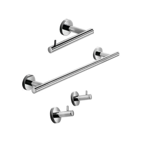 WS Bath Collections Spritz 52435 Bathroom Set Includes 2 Single Hooks, Toilet Paper Holder, and Towel Bar by WS Bath Collections