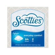 Scotties Everyday Comfort 2-Ply Facial Tissue, 64 Sheets