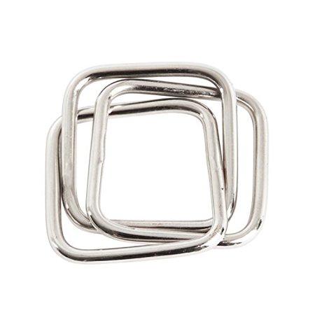 Contemporary Three Squares Design Napkin Rings, Set of 4