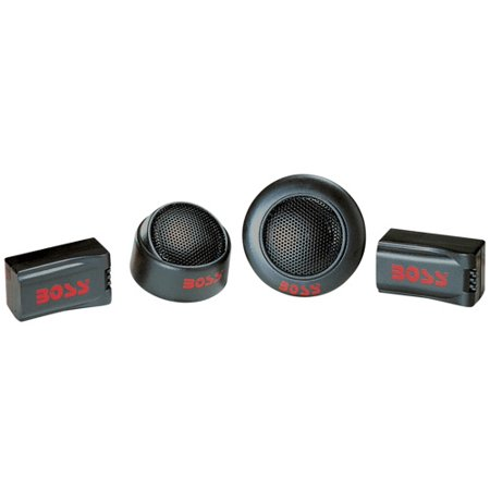 BOSS TW15B 250W 1 Inch Micro Dome Car Audio Tweeters Black + External