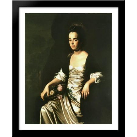 Portrait of Mrs. John Stevens (Judith Sargent, later Mr. John Murray) 28x34 Large Black Wood Framed Print Art by John Singleton