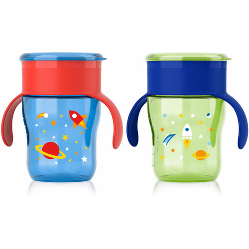 Philips Avent My Natural Drinking Toddler Cup, 9 Ounces, 2-Pack, 12 Months +, Stage 4, BPA-Free