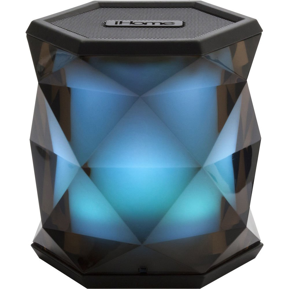 iHome Color Changing Bluetooth Rechargeable Wireless Speaker System with Speakerphone, Multicolor, iBT68BC (Open Box - Like New)