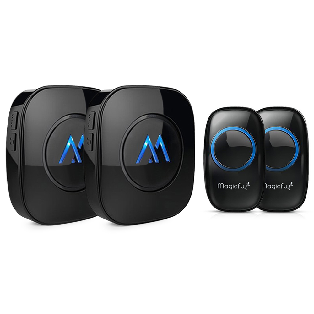 Elegant Magicfly Portable Wireless Doorbell Kit Remote Button Operating At 1000 Ft  Range Over 50 Chimes 2
