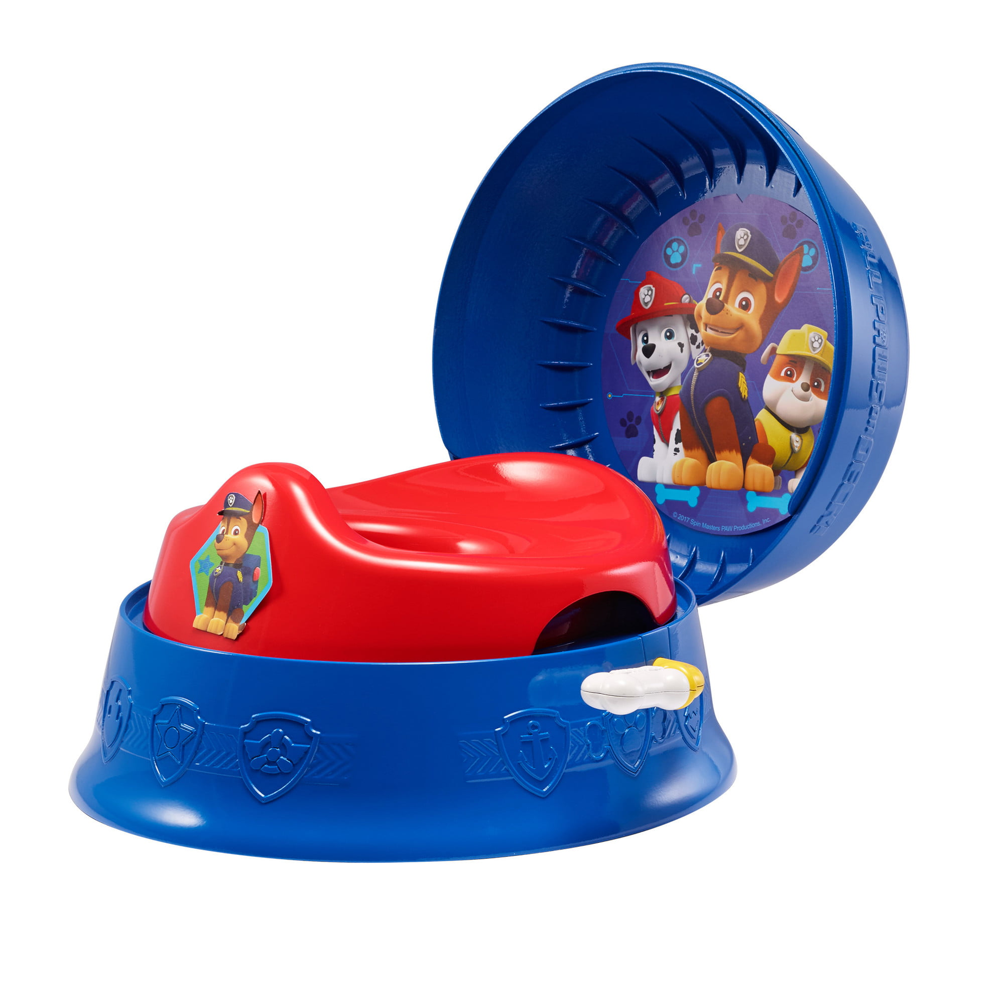 Nickelodeon Paw Patrol 3-in-1 Potty Training Toilet, Toddler Toilet Training Set by TOMY