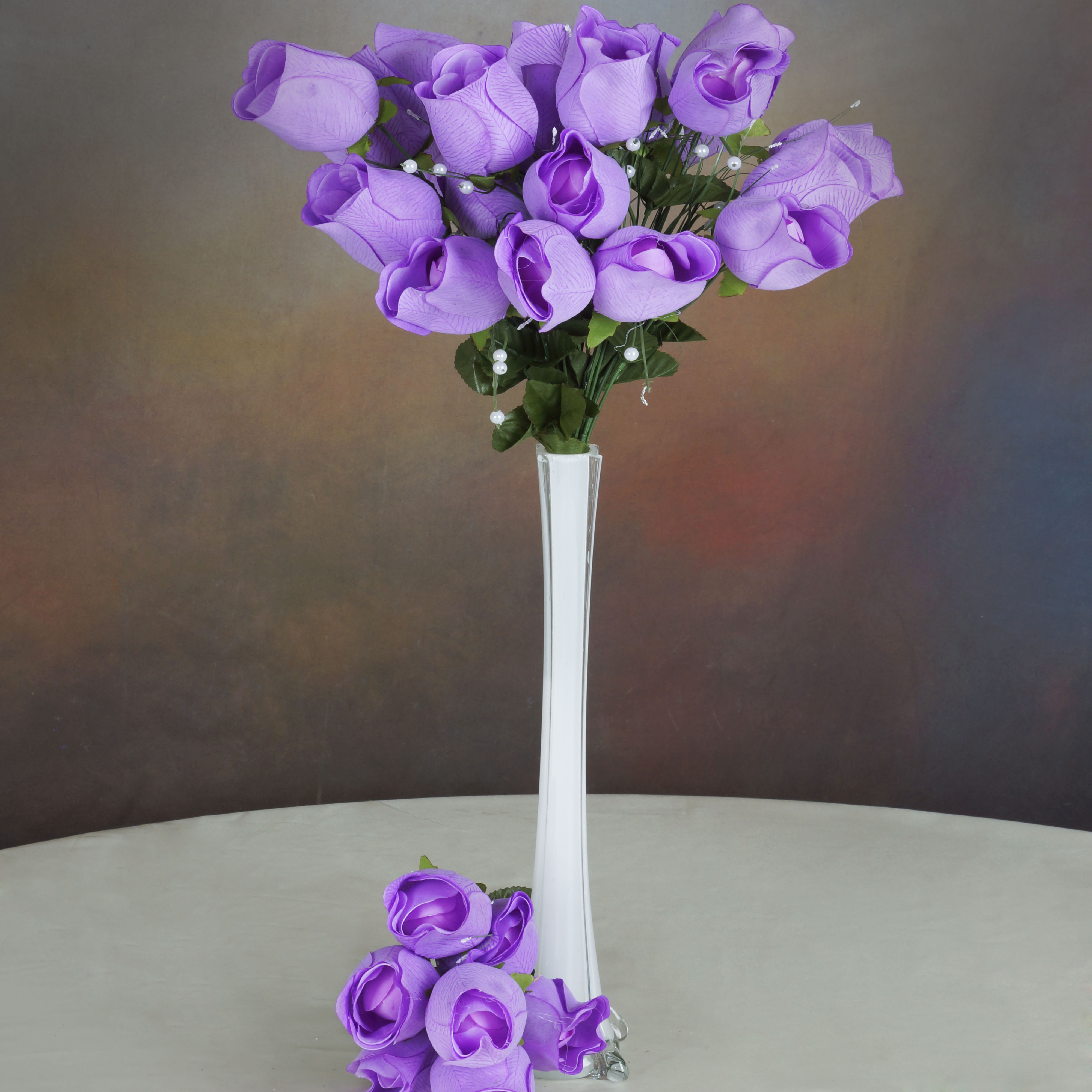 Efavormart 84 Giant Velvet Rose Buds on Long Stems for DIY Wedding Bouquets Centerpieces Arrangements Party Home Decorations Supply