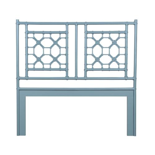 Crafted Home Lakewood White Solid Rustic Lattice Queen Headboard