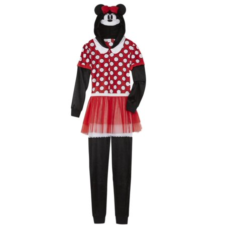 Moose Thermal (Disney Womens Minnie Mouse Union Suit Red Polka Dot Tutu Sleeper)