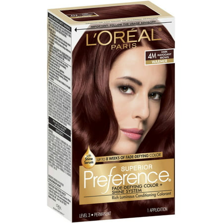 One Direction Halloween Preferences (L'Oreal Paris Superior Preference Fade-Defying Color + Shine System, Dark Mahogany Brown [4M] 1)