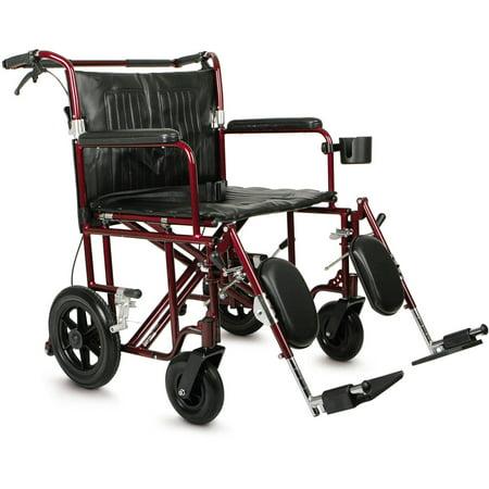 Medline Bariatric Transport Wheelchair, 22