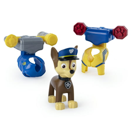Characters In Paw Patrol (PAW Patrol, Action Pack Chase Figure with 2 Clip-On Uniforms, for Kids Aged 3 and)