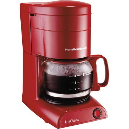 Hamilton Beach Aroma Express 5 Cup Coffeemaker, Red - Walmart.com