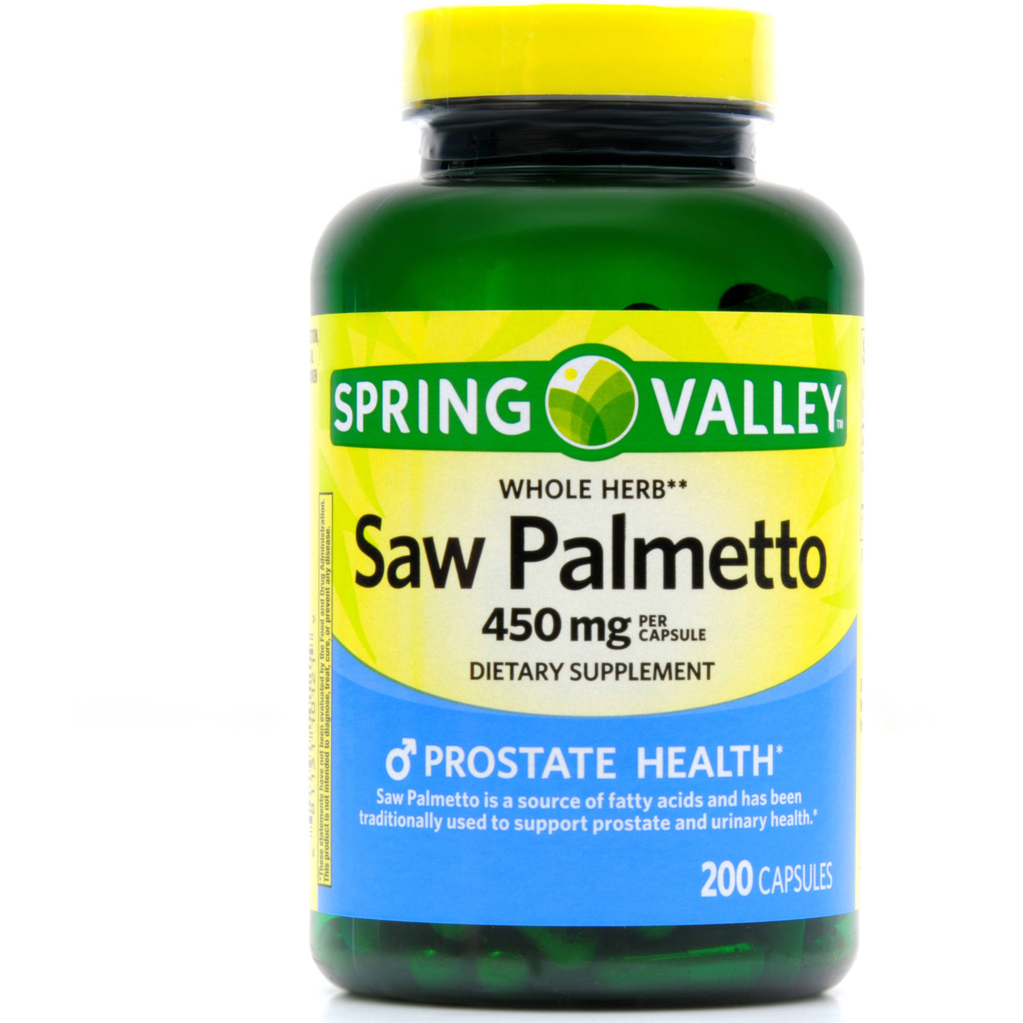 Spring Valley Saw Palmetto Dietary Supplement Capsules, 450mg, 200 count