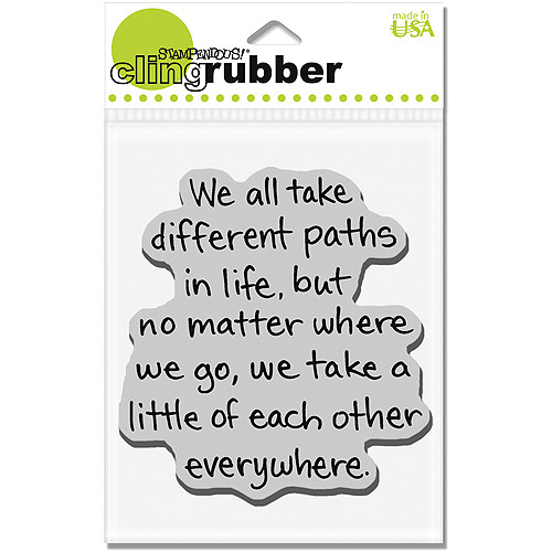 Stampendous Cling Rubber Stamp, Life Path