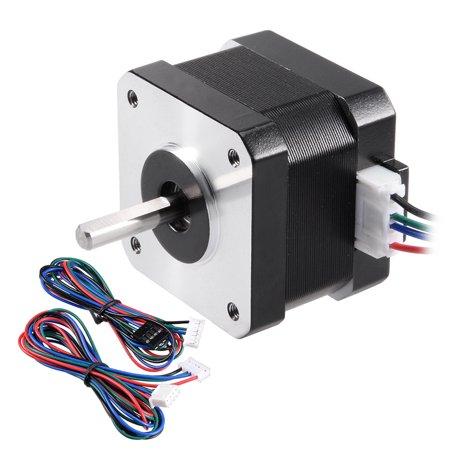 Stepper Motor 42 Bipolar 20mm/10mm 0.56NM 1.5A 2.5V 4 Lead Cable for 3D Printer - image 7 de 7