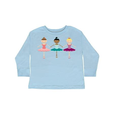 06e42486 Little Ballerina Trio Toddler Long Sleeve T-Shirt - Walmart.com