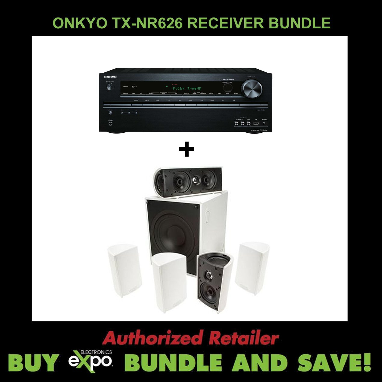 Onkyo TX-NR626 7.2-Channel Receiver Definitive Technology...