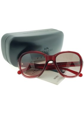 1b3acc64f0 Product Image Coach HC8197-502914 Square Women s Burgundy Frame Brown Lens  Genuine Sunglasses