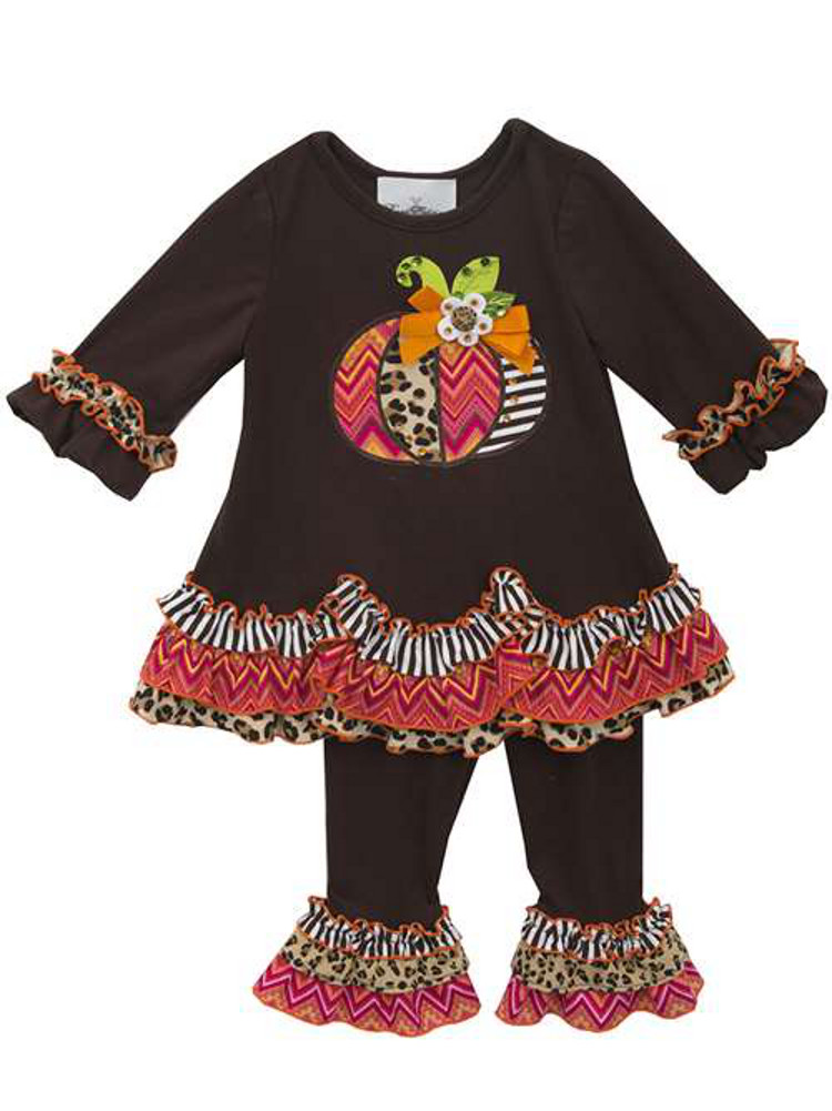 Brown Butterfly Girls Pant Set 9 months Rare Editions Girls Outfits