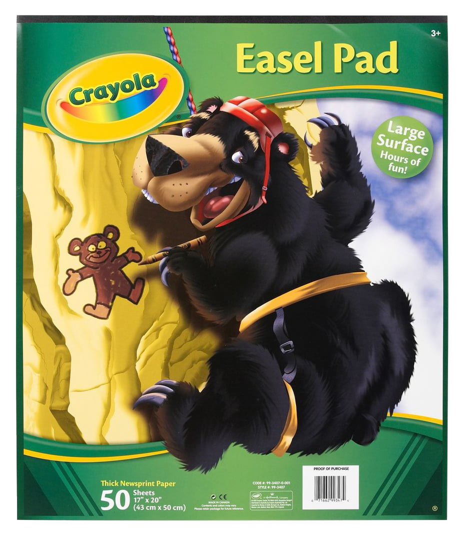 2 Packs Of 50 Pages 17x20 Sheets Crayola Easel Pad