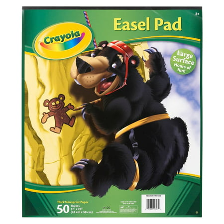 Crayola Easel or Floor Pad for Ages 3 and Up, 50 Sheets