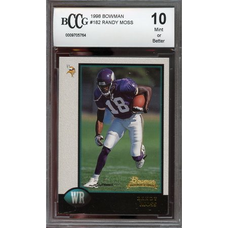 1998 Bowman 182 Randy Moss Minnesota Vikings Rookie Card Bgs Bccg 10